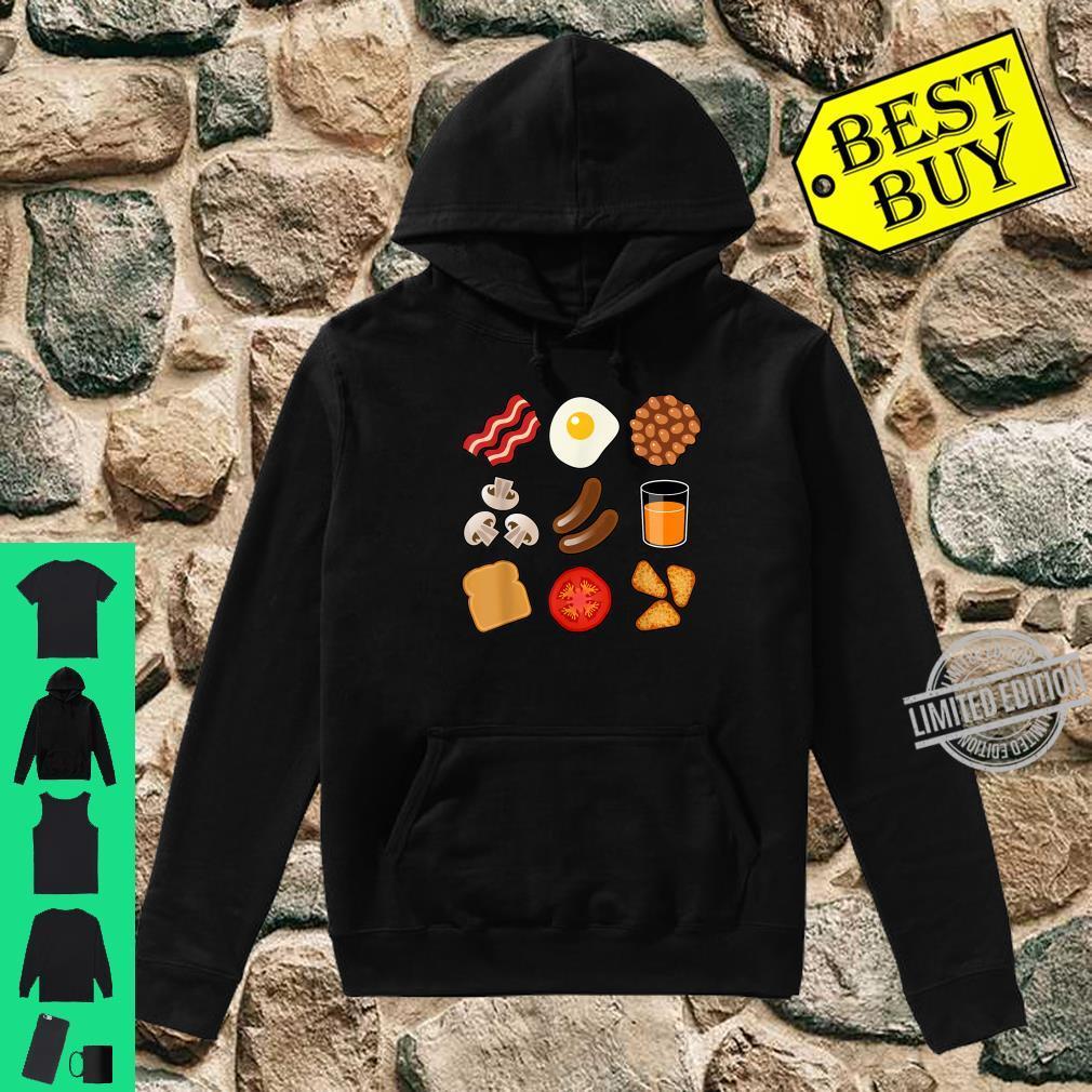 Full English Breakfast Short Sleeve Black Shirt hoodie