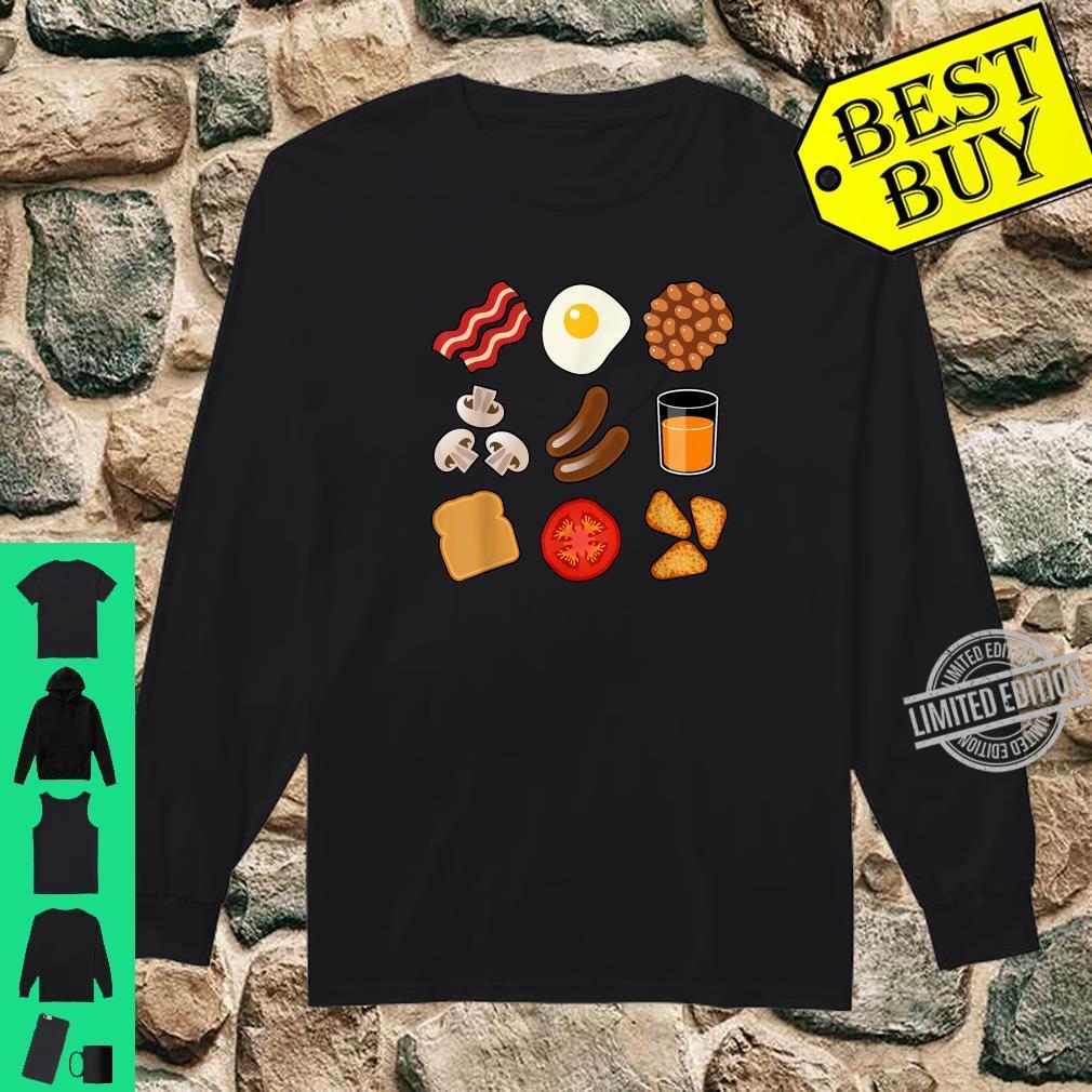 Full English Breakfast Short Sleeve Black Shirt long sleeved