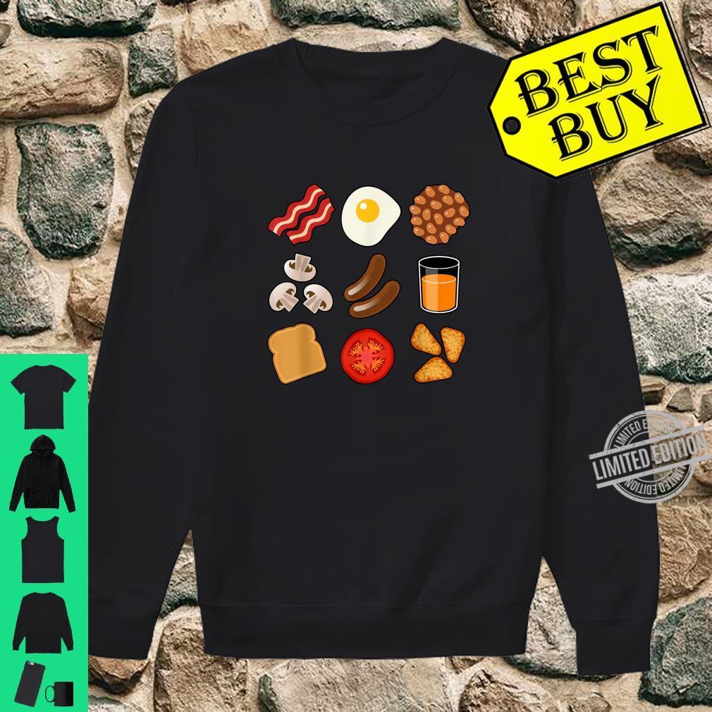 Full English Breakfast Short Sleeve Black Shirt sweater