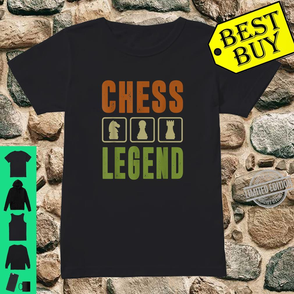 Graphic 365 Chess Legend Player Set Game Humor Shirt ladies tee
