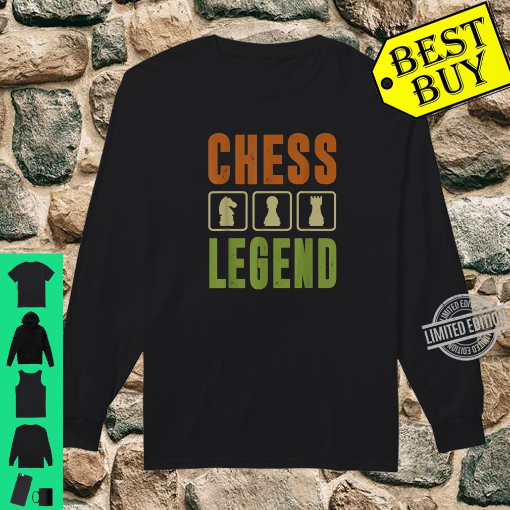 Graphic 365 Chess Legend Player Set Game Humor Shirt long sleeved