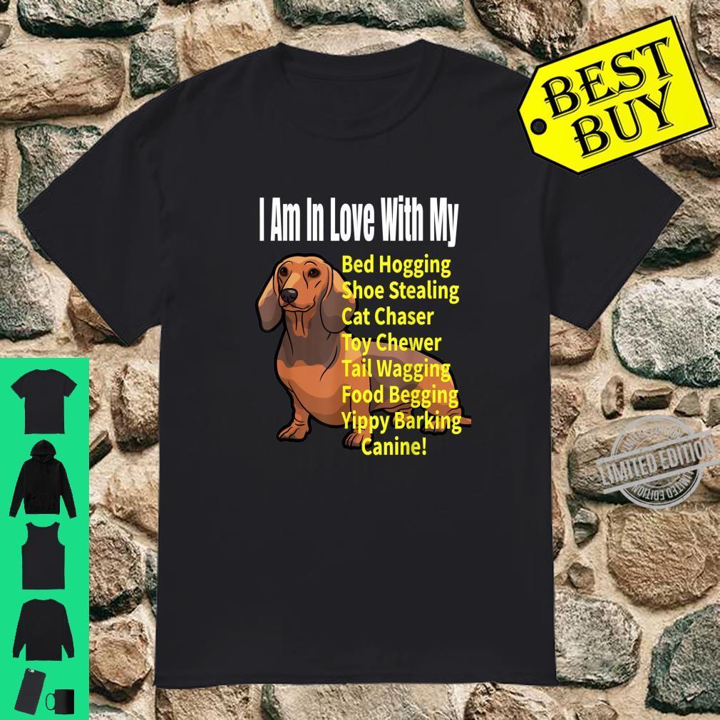 I Love My Dachshund Dog Meme Shirt