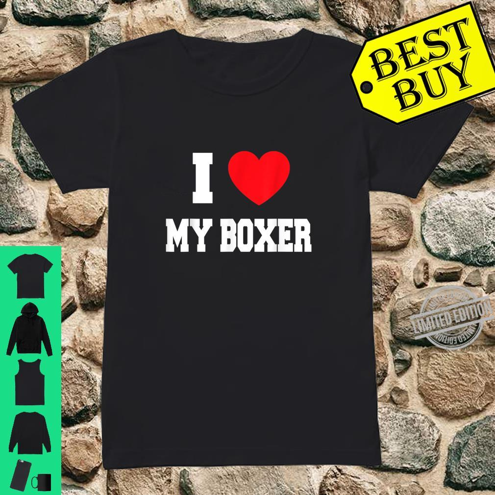 I Love Heart Boxers Ladies T-Shirt