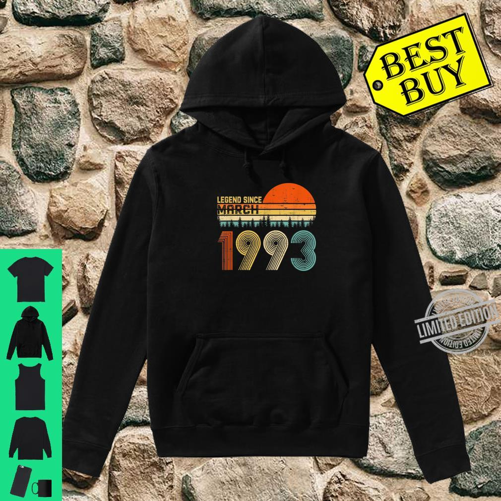 Legend Since March 1993 27th Birthday 27 Years Old Shirt hoodie