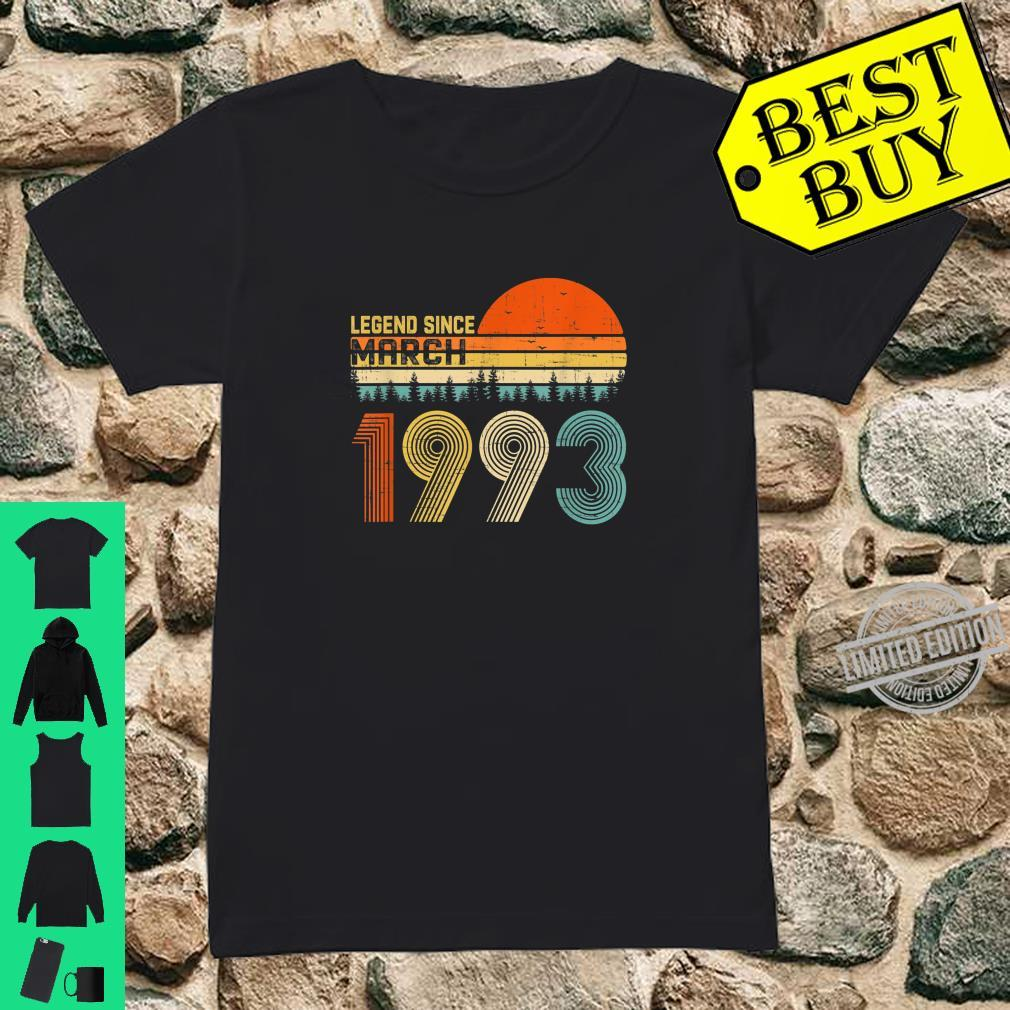 Legend Since March 1993 27th Birthday 27 Years Old Shirt ladies tee