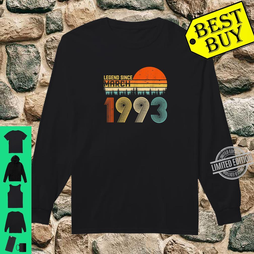 Legend Since March 1993 27th Birthday 27 Years Old Shirt long sleeved
