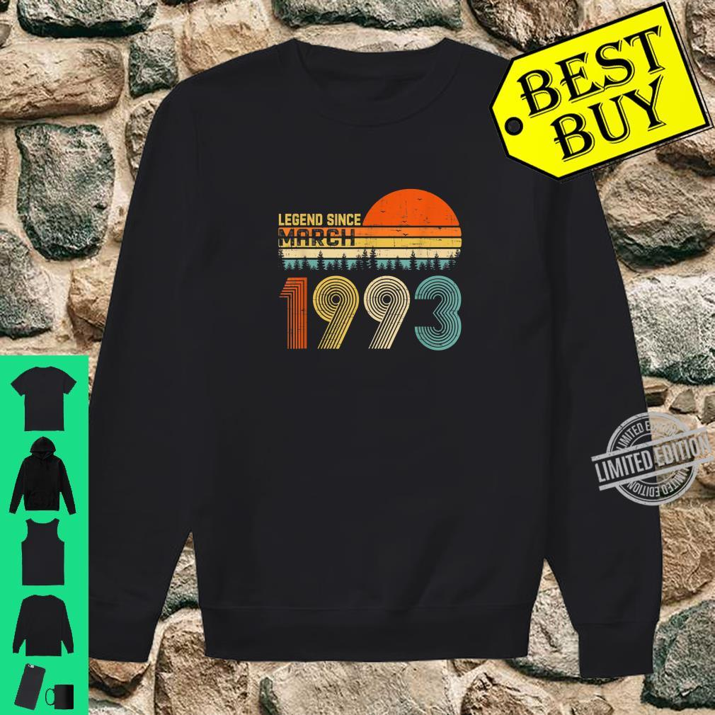 Legend Since March 1993 27th Birthday 27 Years Old Shirt sweater