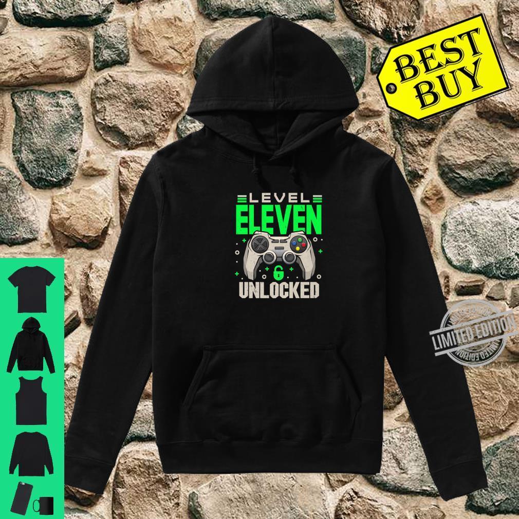 Level 11 Unlocked 11th Eleven Birthday Gamer Boys Shirt hoodie