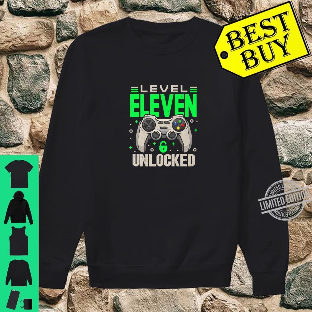 Level 11 Unlocked 11th Eleven Birthday Gamer Boys Shirt sweater