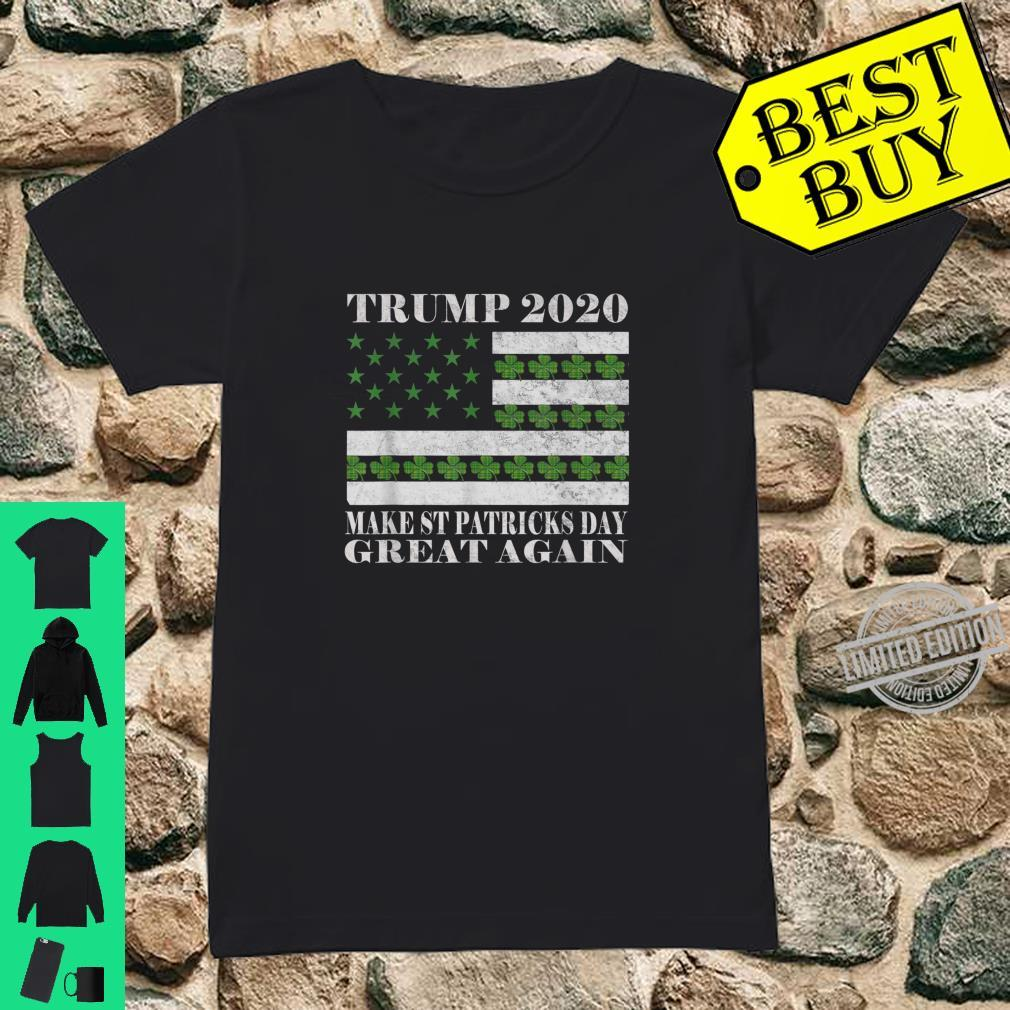 Make St Patricks Day Great Again Pro Trump 2020 Vintage Shirt ladies tee
