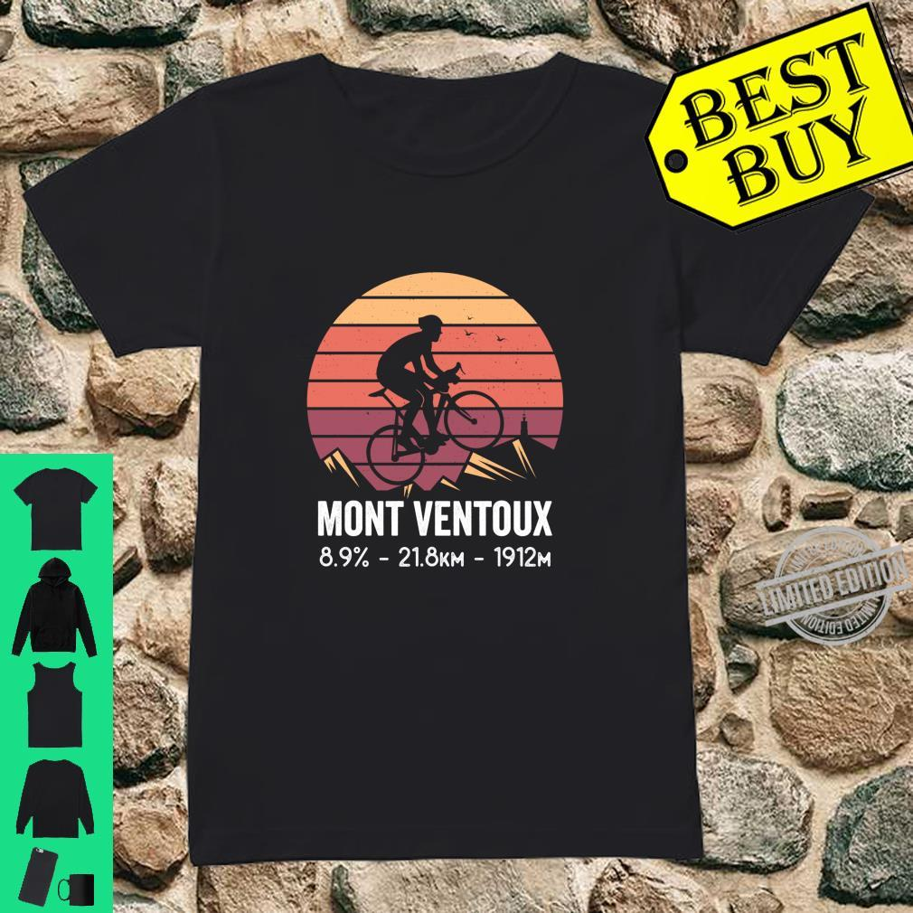 Mont Ventoux Road Cycling Climb France Moutain Cyclist Shirt ladies tee