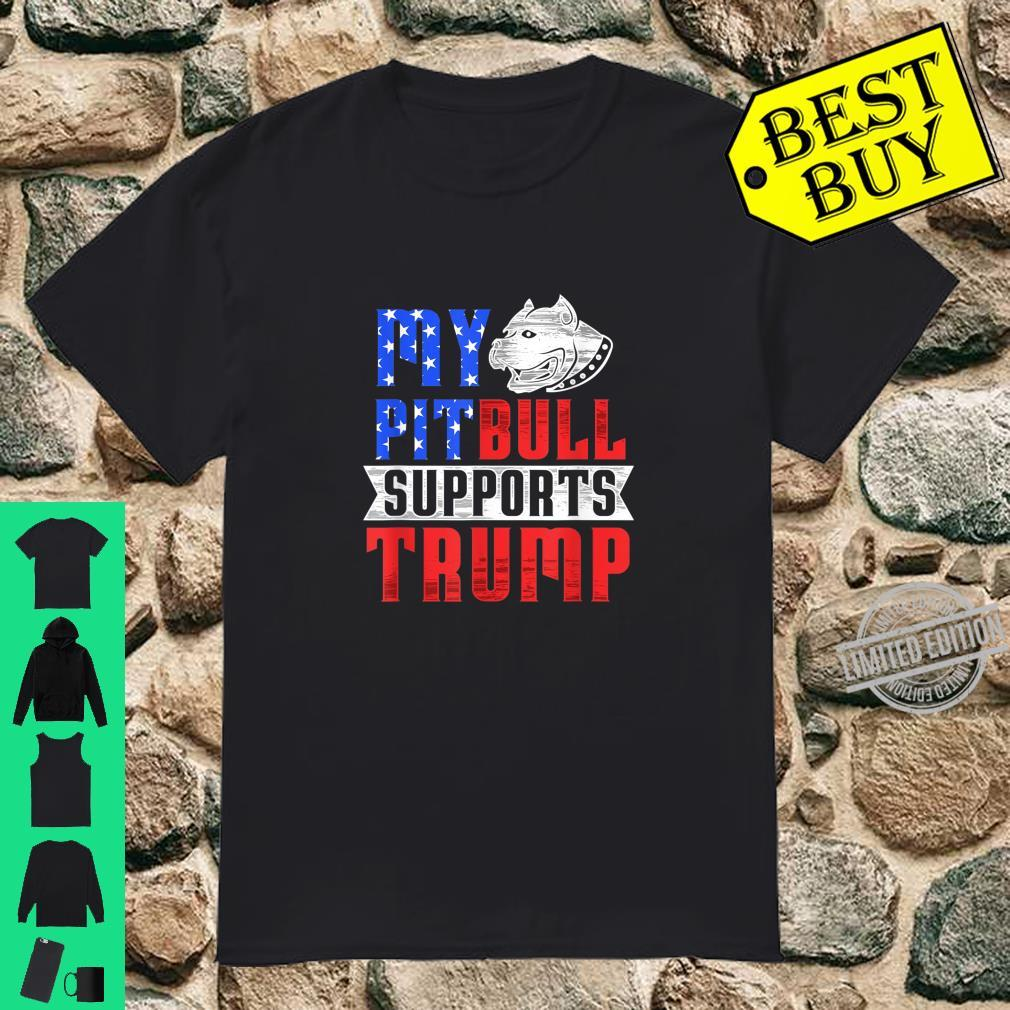 My Pit Bull Supports Trump 2020 Election Dog Owners Shirt