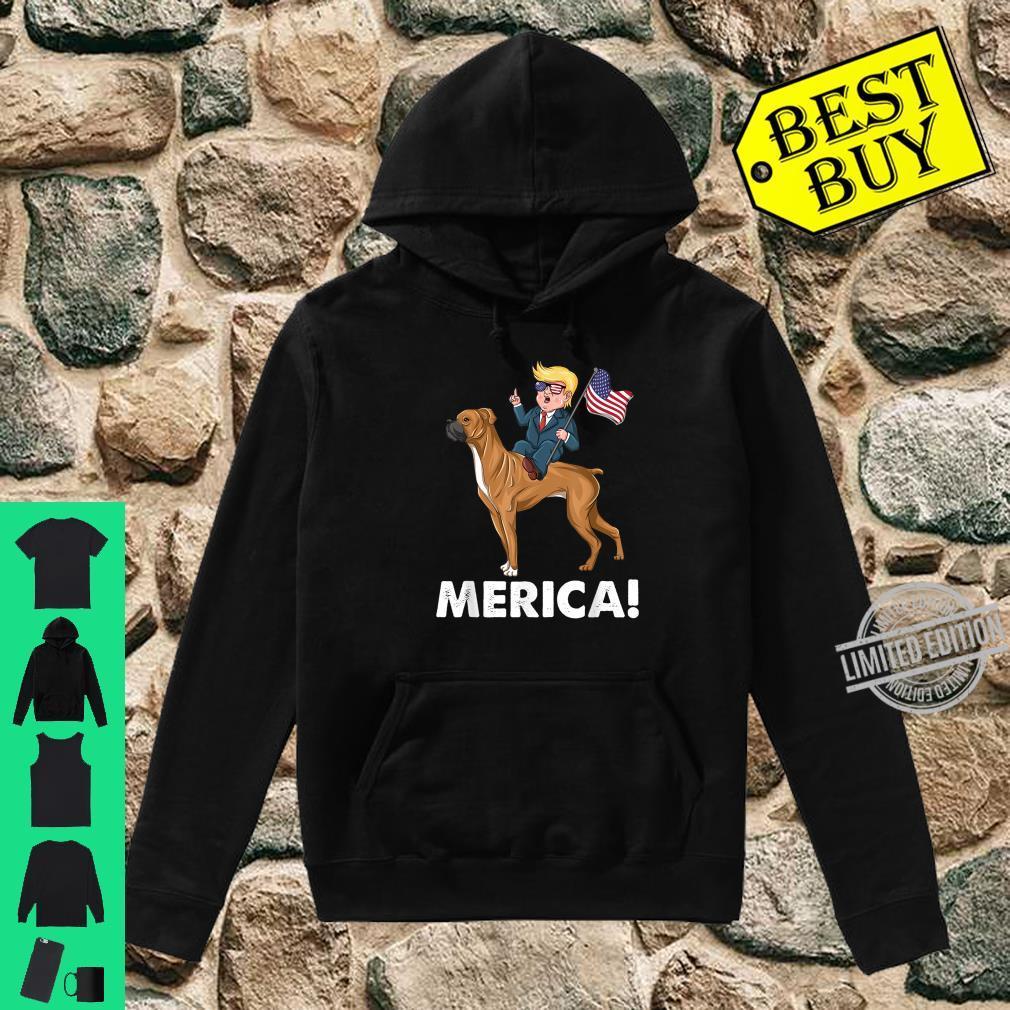 Trump Merica Boxer Dog American Hero 4th of July Shirt hoodie