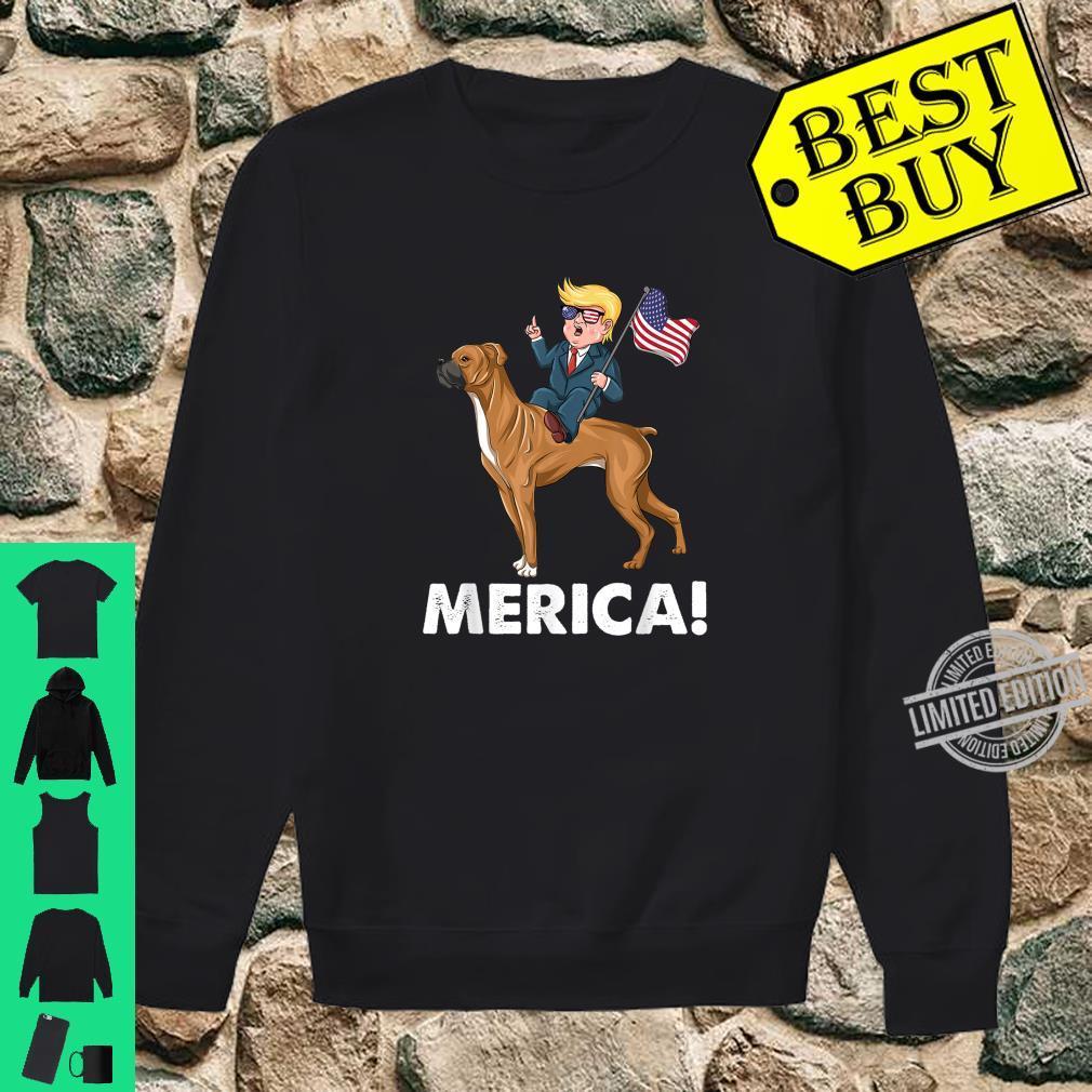 Trump Merica Boxer Dog American Hero 4th of July Shirt sweater