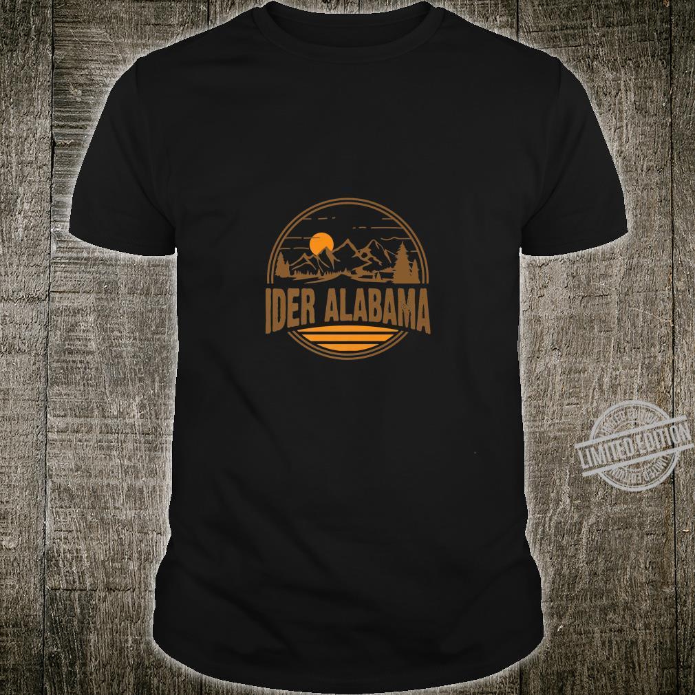 Vintage Ider, Alabama Mountain Hiking Souvenir Print Shirt