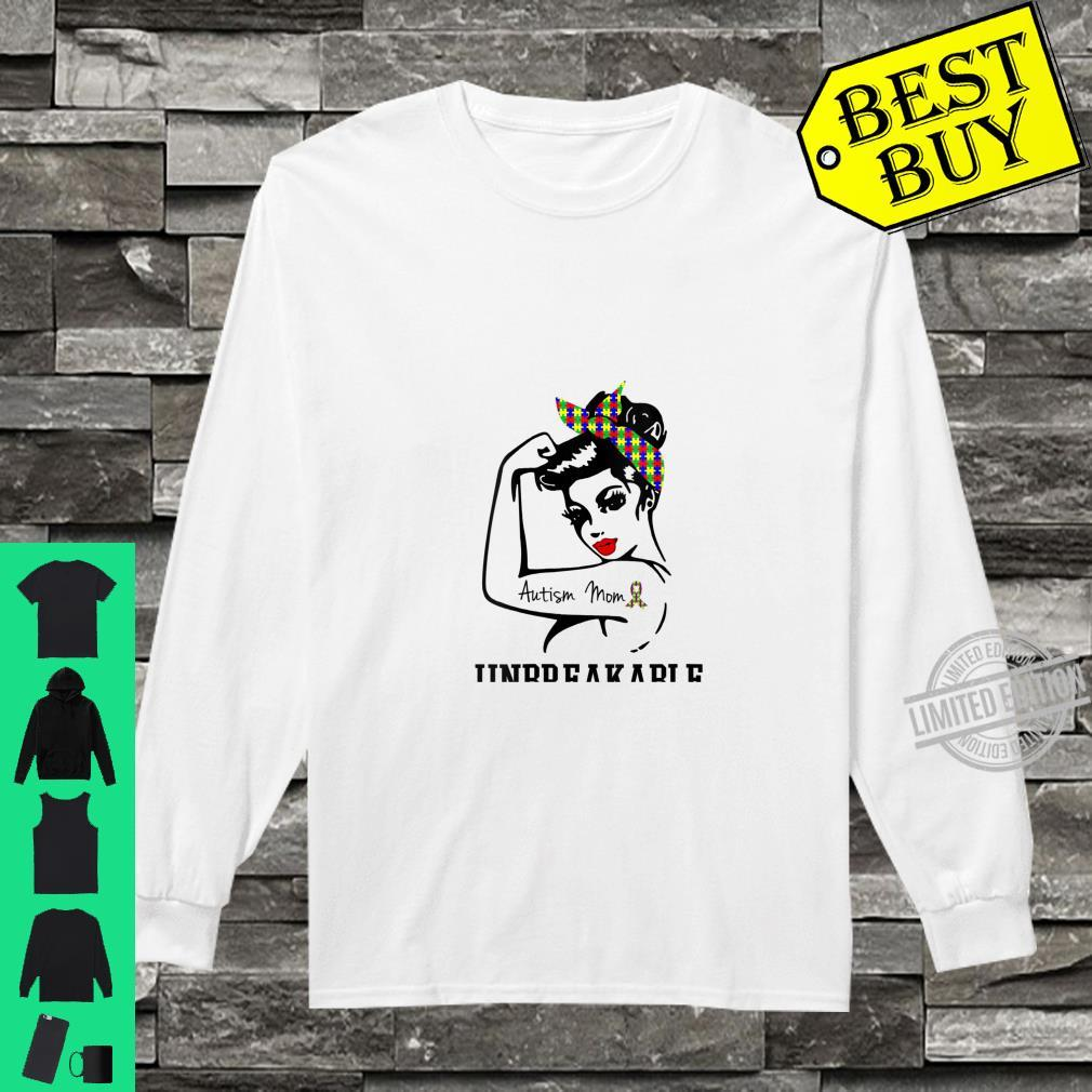 Womens Autism Mom Unbreakable Shirt Amazing Strong Shirt long sleeved