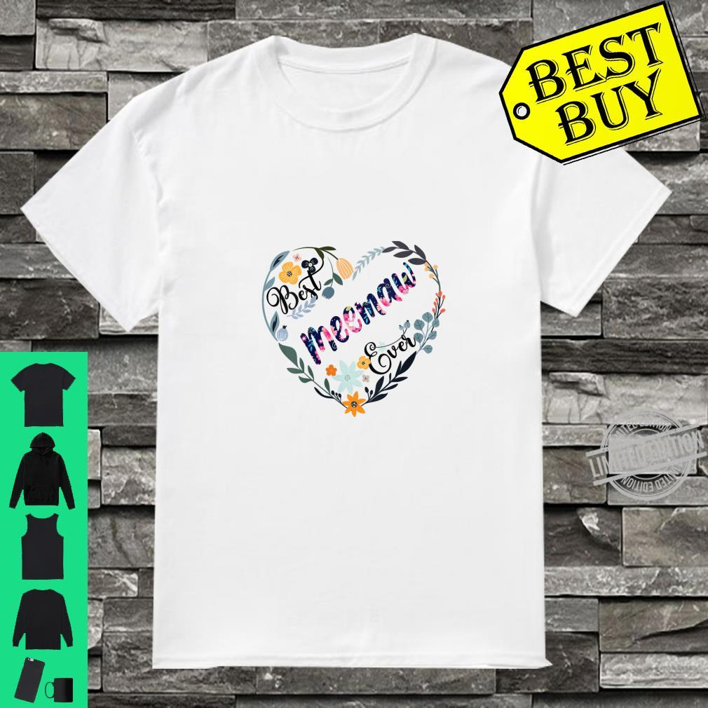 Womens Best Meemaw Ever Flower Blessed Grandma Mother's Day Shirt