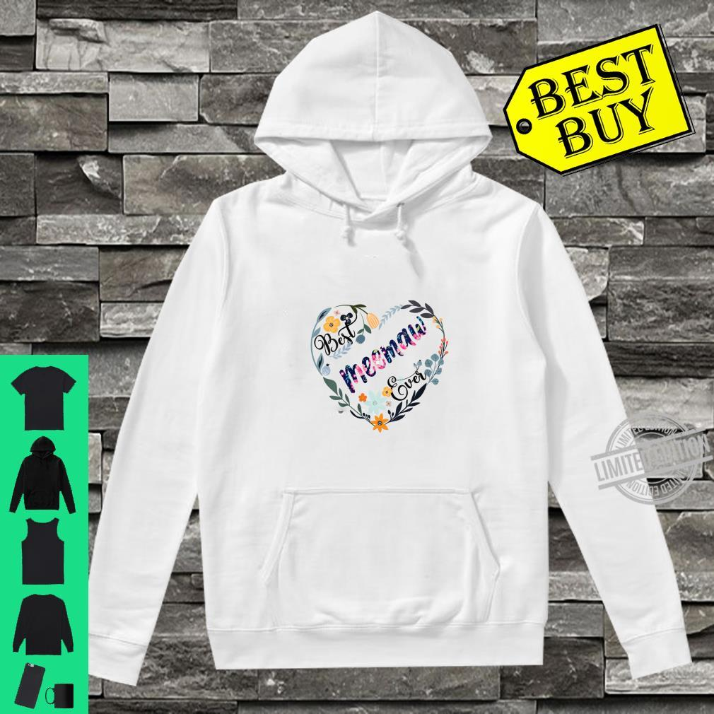Womens Best Meemaw Ever Flower Blessed Grandma Mother's Day Shirt hoodie