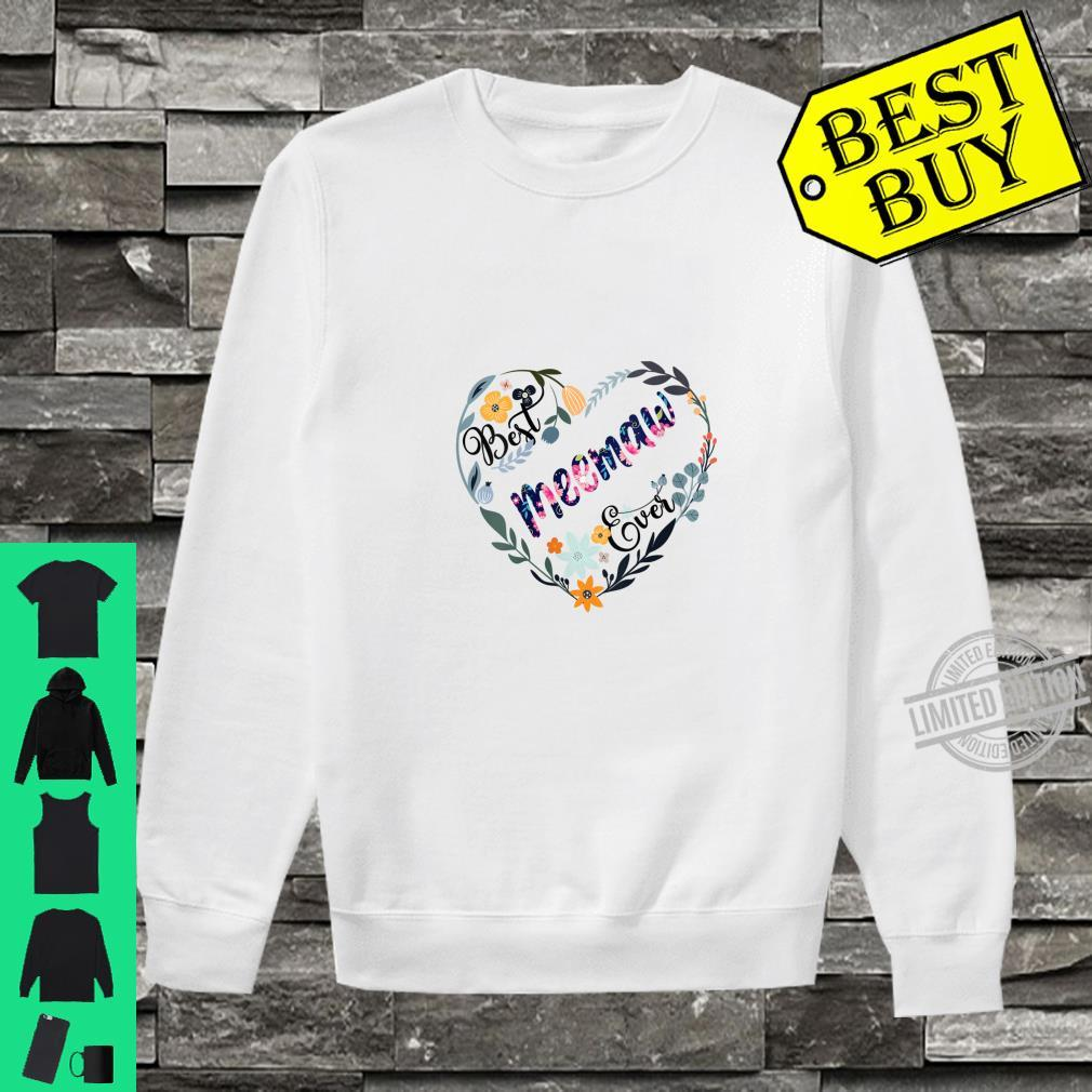 Womens Best Meemaw Ever Flower Blessed Grandma Mother's Day Shirt sweater