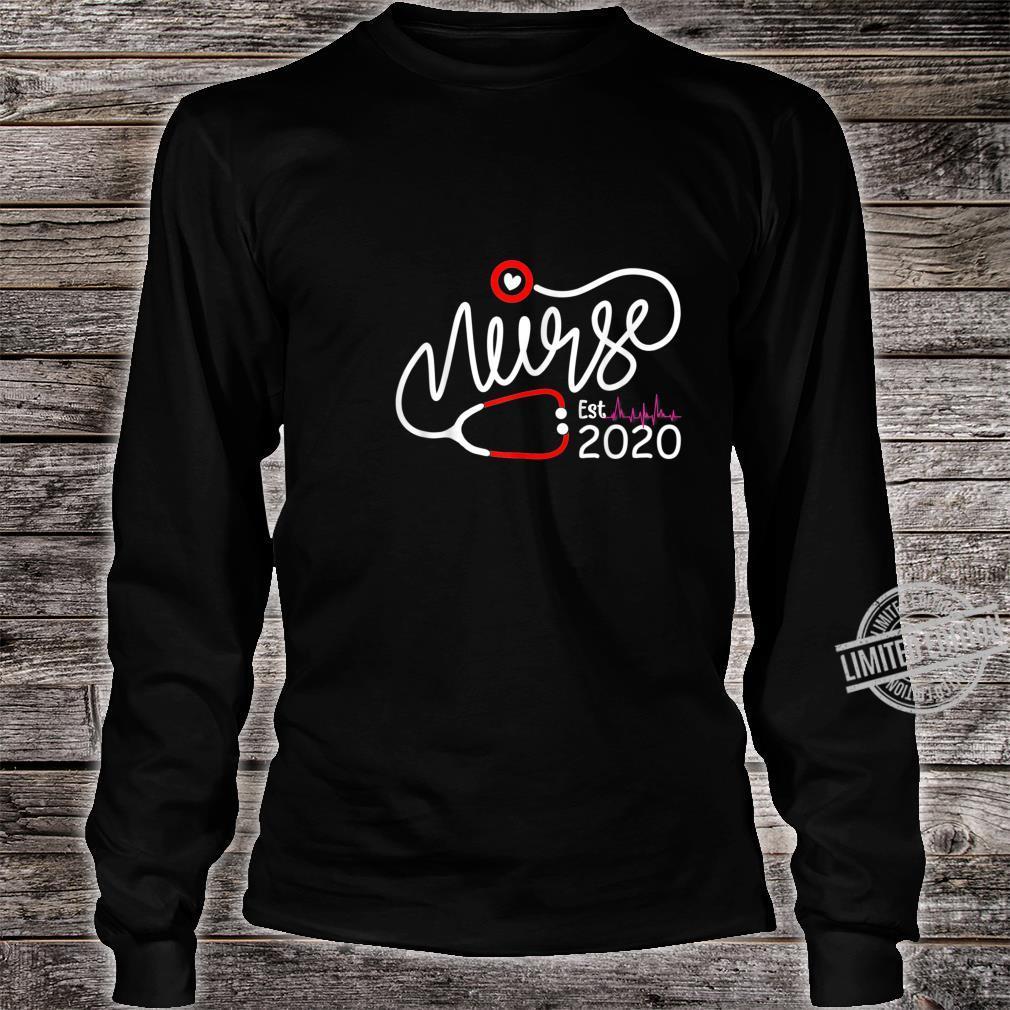 Womens New Nurse Est 2020, Nursing School Graduation Shirt long sleeved
