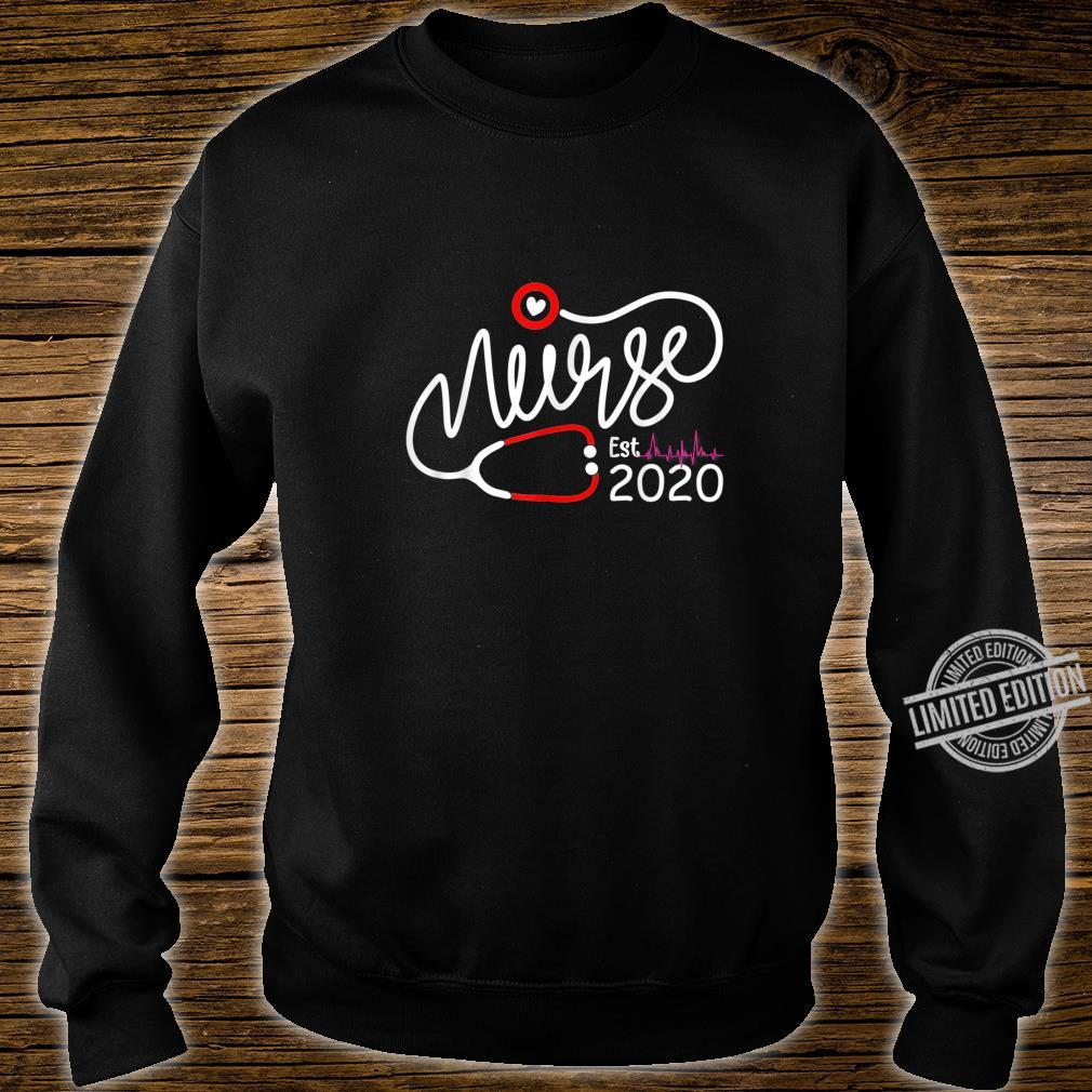 Womens New Nurse Est 2020, Nursing School Graduation Shirt sweater